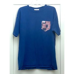 Fraternity Collection American Flag Pocket Tee